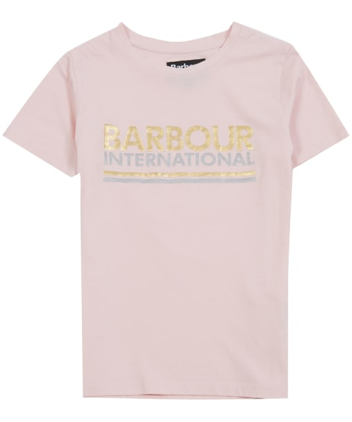 Girl's Barbour International Distance Tee, 2-9yrs - Cameo Pink