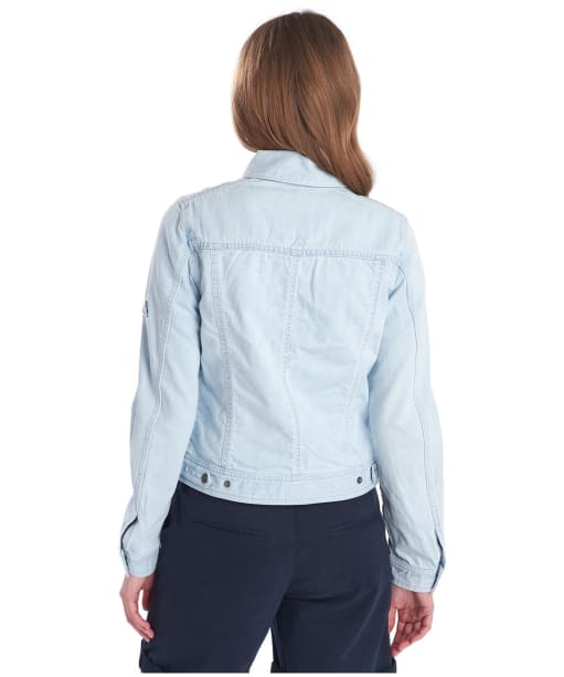 Women's Barbour Ripple Denim Jacket - SUPER BLEACHED