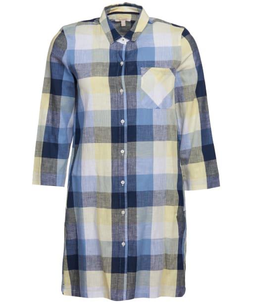 Women's Barbour Promenade Dress - Skyline Blue Check