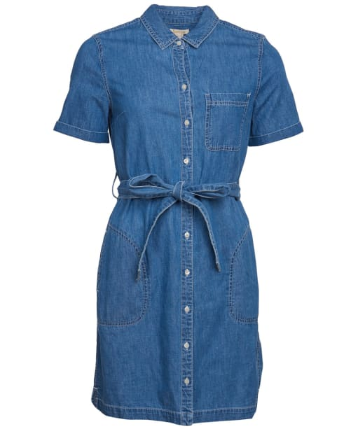 Women's Barbour Seaboard Denim Dress - Mid Wash