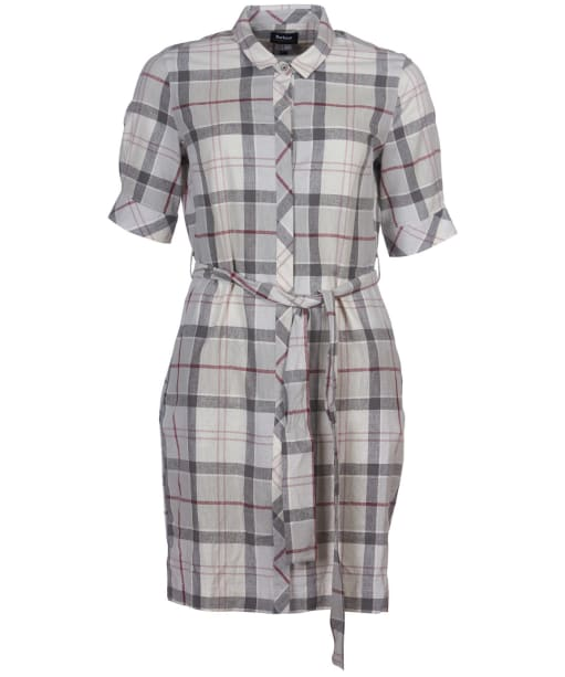 Women's Barbour Millie Dress - Platinum Tartan
