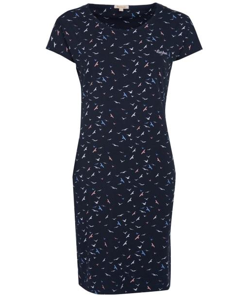 Women's Barbour Harewood Print Dress - Navy Coast Print