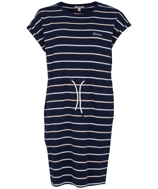 Women's Barbour Marloes Stripe Dress - Navy
