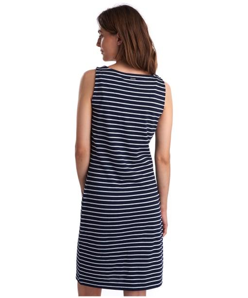 Women's Barbour Dalmore Stripe Dress - Navy / White