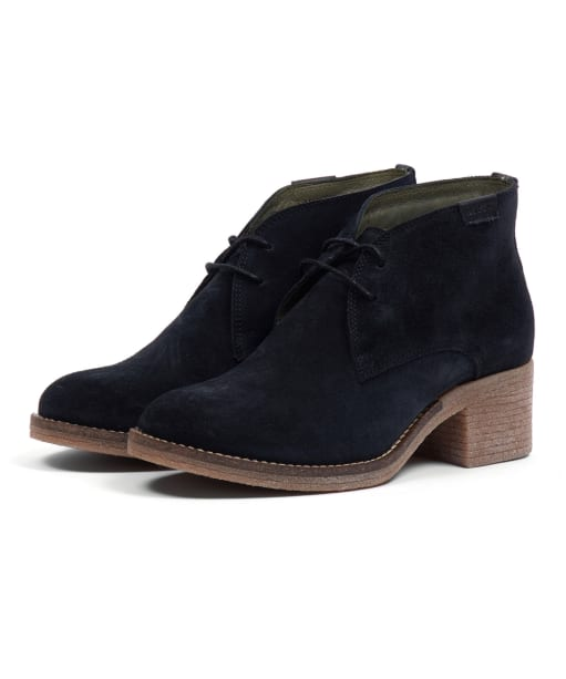 Women's Barbour Edele Chukka Boots - Black Suede