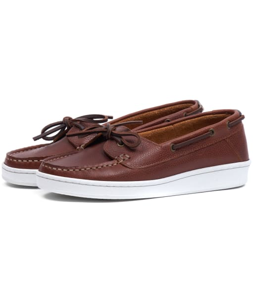 Women's Barbour Miranda Boat Shoes - Cognac Leather