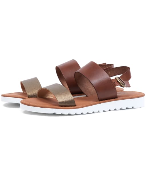 Women's Barbour Mia Sandals - Brown / Bronze