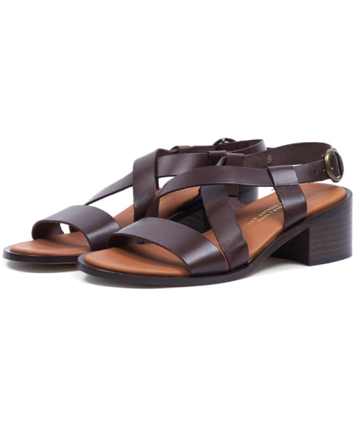 Women's Barbour Thea Sandals - Chocolate