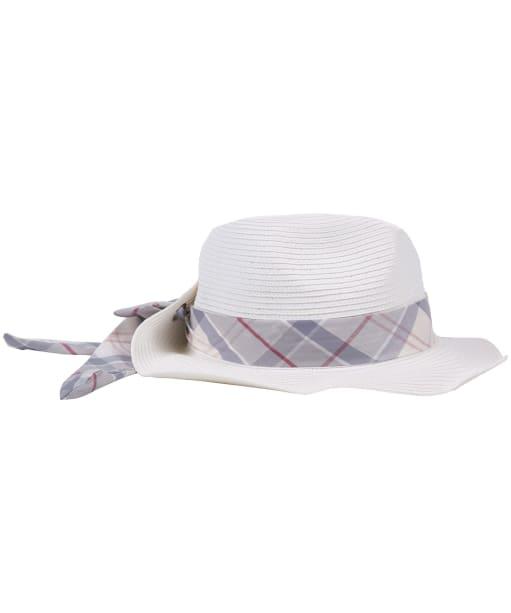 Women's Barbour Lorne Tartan Trimmed Fedora Hat - Cloud / Platinum Tartan