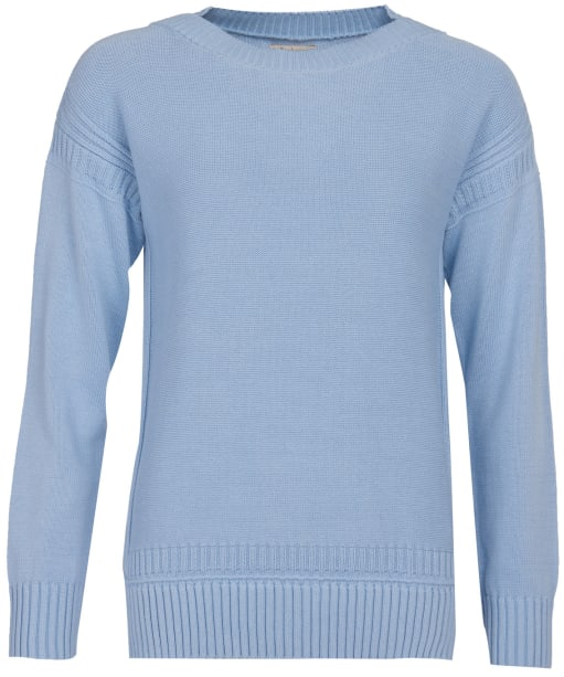 Women's Barbour Sailboat Knit Sweater - Light Skyline Blue