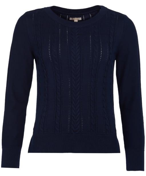 Women's Barbour Hampton Knit Sweater - Navy