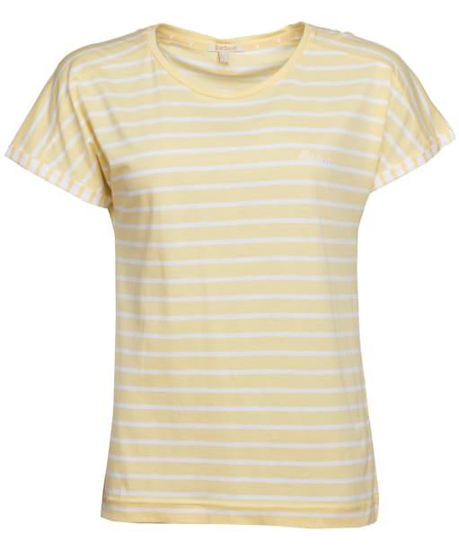 Women's Barbour Boardwalk Top - Primrose Yellow / White