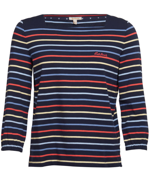 Women's Barbour Seaview Top - Navy Stripe