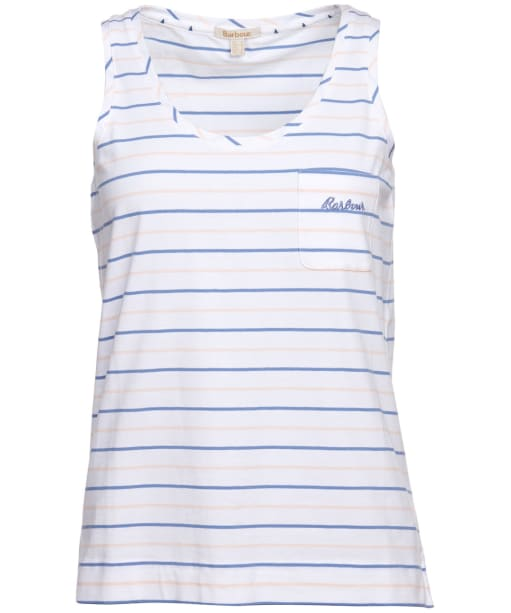 Women's Barbour Overland Vest Top - White Stripe
