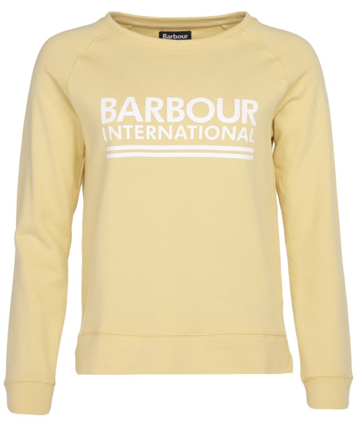Women's Barbour International Arena Overlayer - Citrine Yellow
