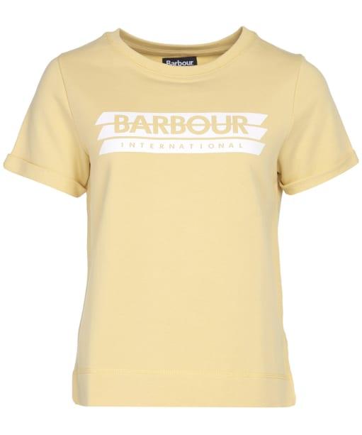 Women's Barbour International Keeper Overlayer - Citrine Yellow