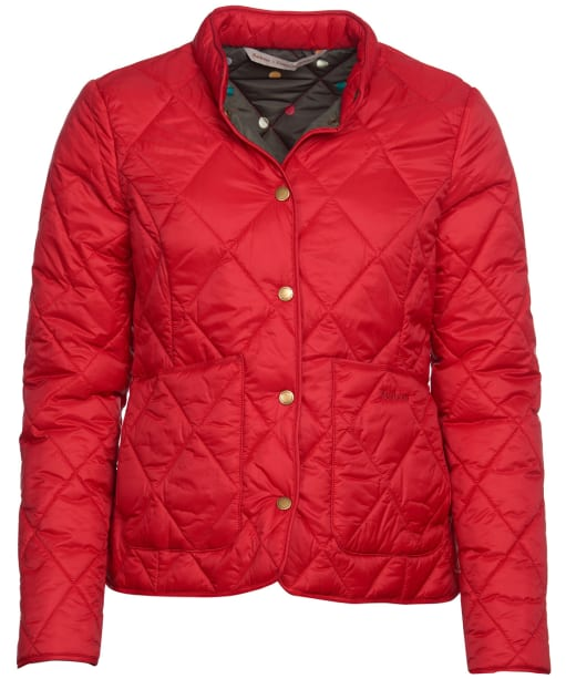 Women's Barbour x Emma Bridgewater Morely Quilted Jacket - Brick Red
