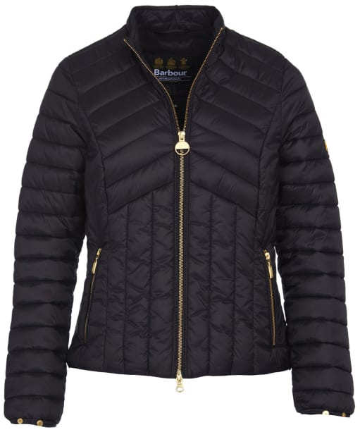 Women's Barbour International Keeper Quilted Jacket - Black