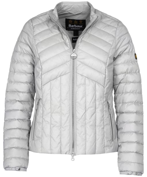 Women's Barbour International Keeper Quilted Jacket - Ice White