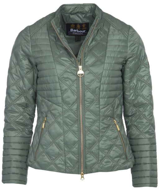 Women's Barbour International Freethrow Quilted Jacket - Tussock