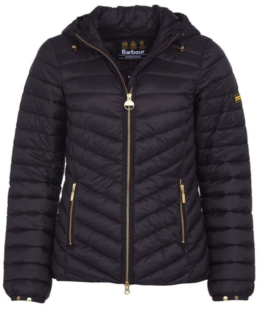Women's Barbour International Ringside Quilted Jacket - Black