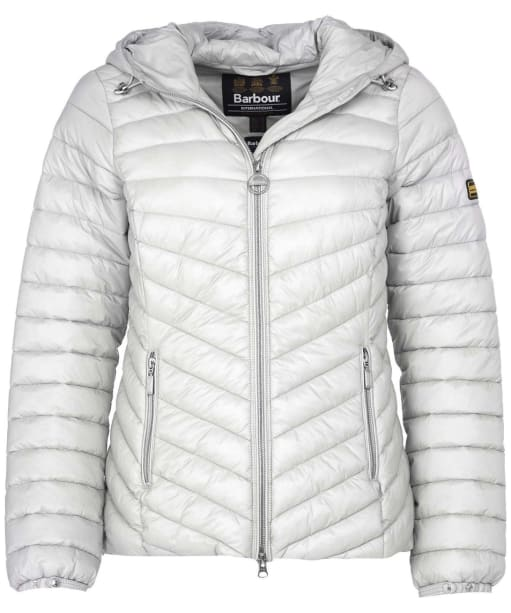 Women's Barbour International Ringside Quilted Jacket - Ice White