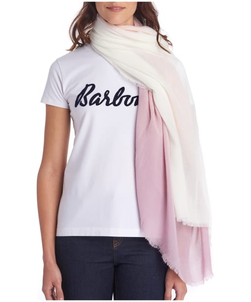 Women's Barbour Dipdye Wrap - Blossom Pink