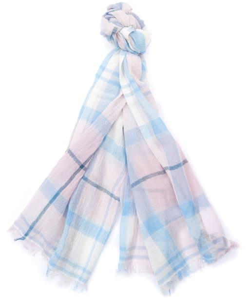 Women's Barbour Christie Tartan Wrap - Blossom Tartan