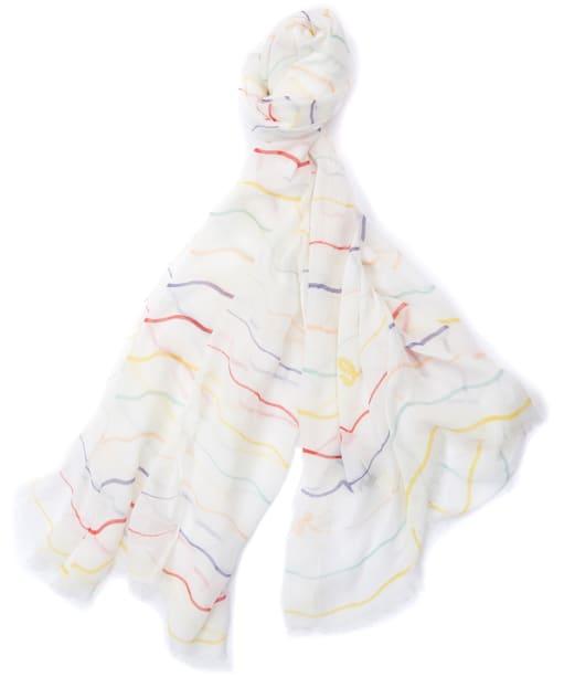 Women's Barbour Squiggle Stripe Wrap - White Multi Stripe