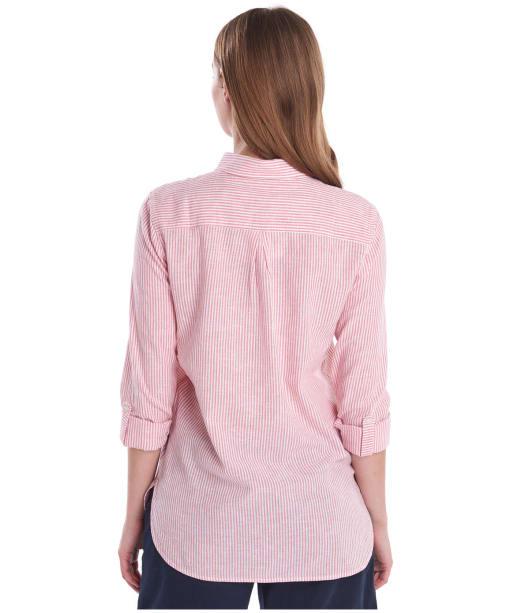 Women's Barbour Beachfront Shirt - Coral / White