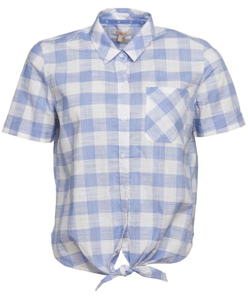 Women's Barbour Pier Shirt - LT SKYLINE CHK