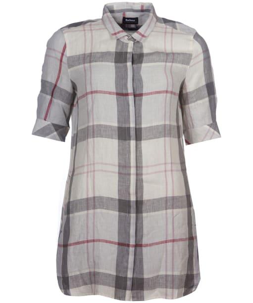 Women's Barbour Harper Shirt Dress - Platinum Tartan