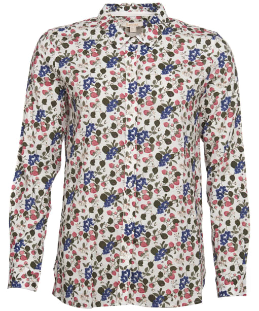 Women's Barbour Everly Shirt - Off White Strawberry Print