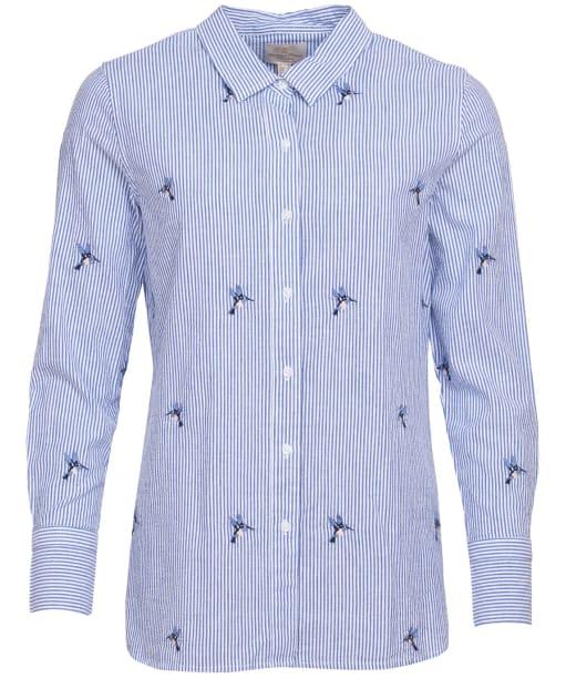 Highfield Shirt - White / Blue Stripe