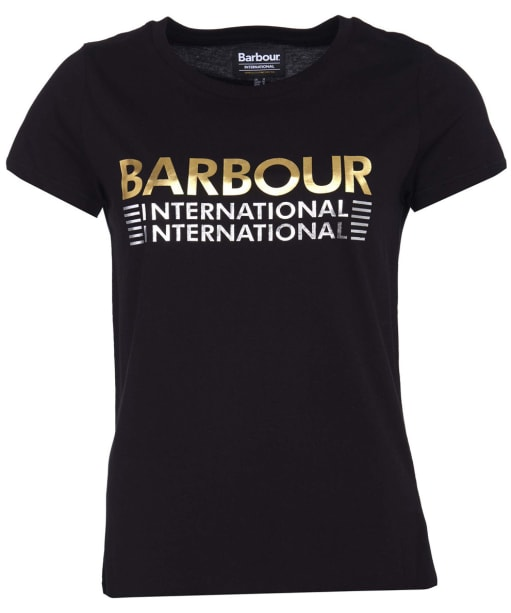 Women's Barbour International Trackrace Tee - Black