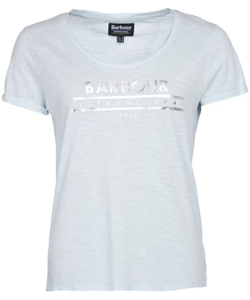 Women's Barbour International Fullcourt Tee - Opal