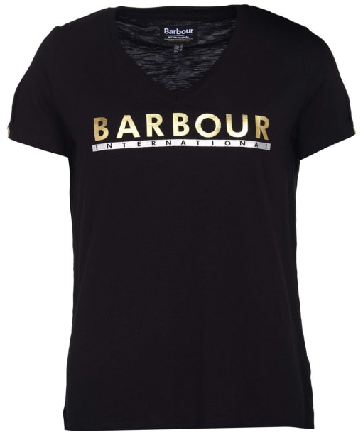 Women's Barbour International Huddle Tee - Black