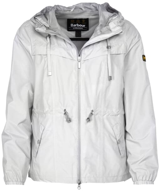 Women's Barbour International Hold Jacket - Ice White Marl