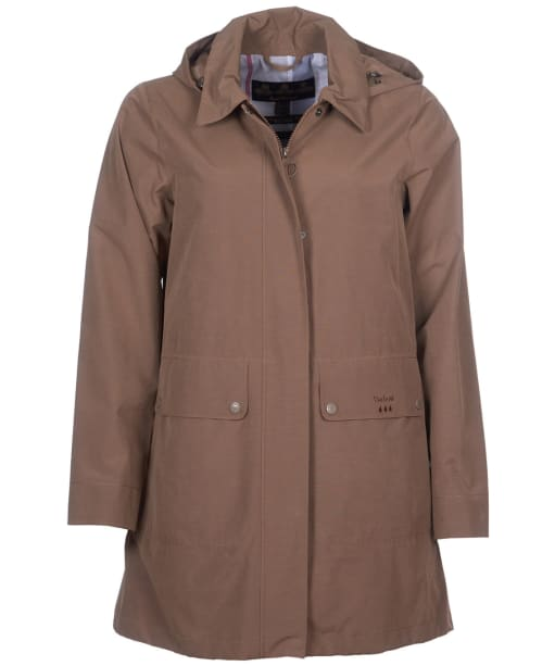Women's Barbour Outflow Waterproof Jacket - Soft Gold