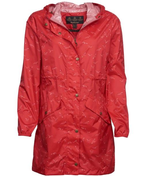 Women's Barbour Simonside Waterproof Packable Jacket - Coral Seagull