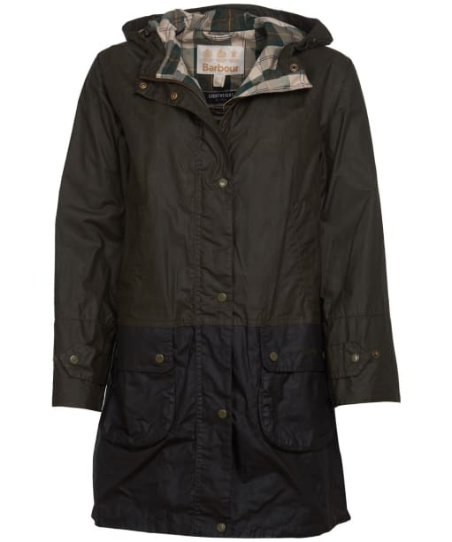 Women's Barbour Maddison Waxed Jacket - Archive Olive