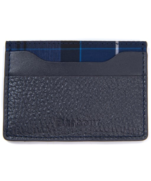 Men's Barbour Laddon Leather Card Holder - Navy