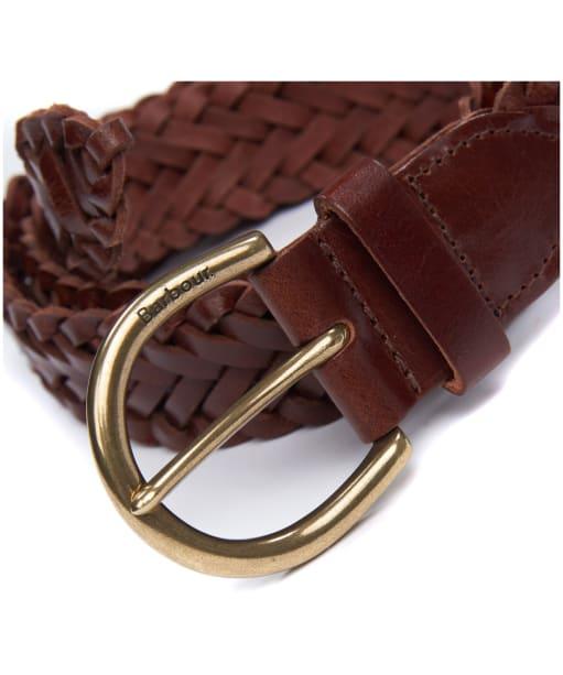 Men's Barbour Chilton Leather Belt - Brown