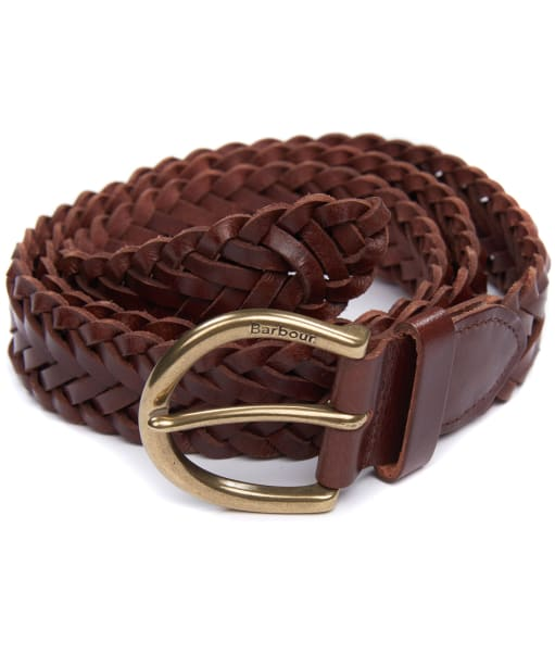 Men's Barbour Chilton Leather Belt - Brown