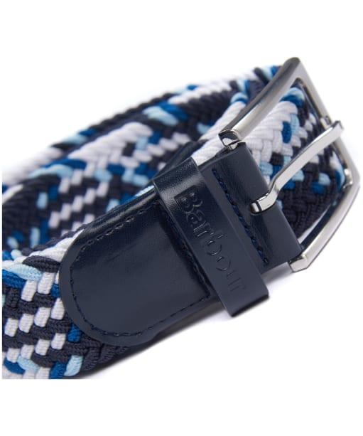 Men's Barbour Tartan Ford Belt - Blue / White