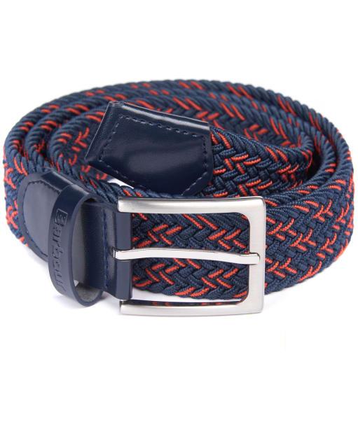 Men's Barbour Mariner Ford Belt - Navy / Orange