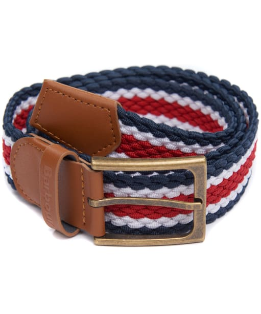 Men's Barbour Striped Ford Belt - Red / Navy / White