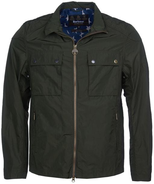 Men's Barbour International Steve McQueen Ashbury Casual Jacket - Sage