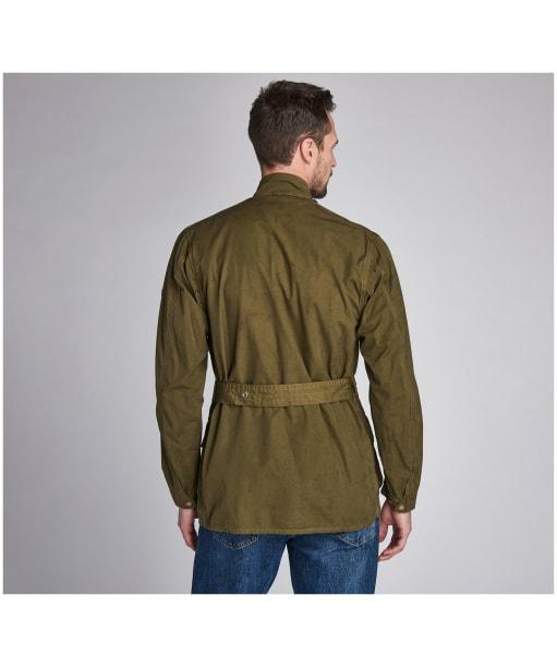 Men's Barbour International Summer Wash A7 Casual Jacket - Green