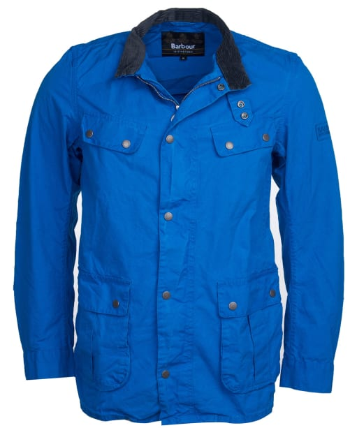 Men's Barbour International Summer Wash Duke Casual Jacket - Azurite